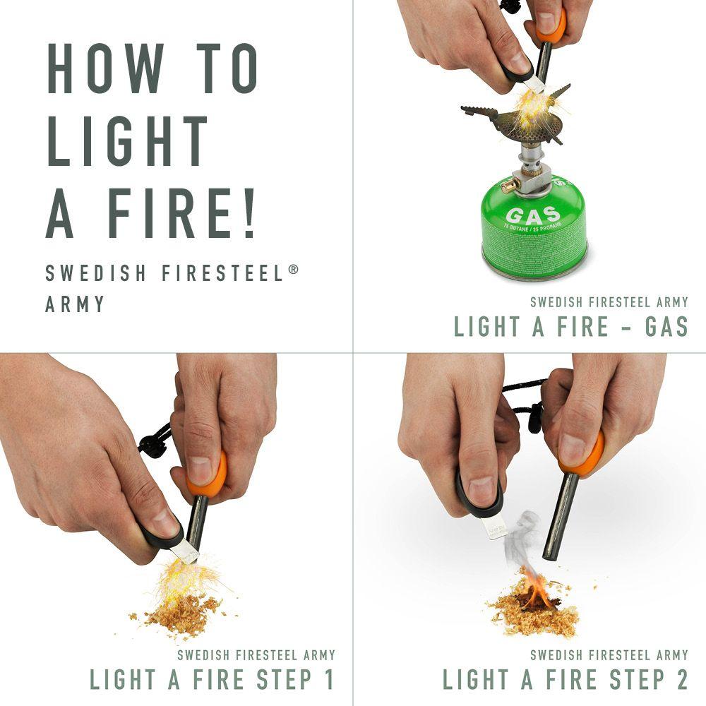 نحوه استفاده از سنگ چخماق طبیعت گردی light my fire
