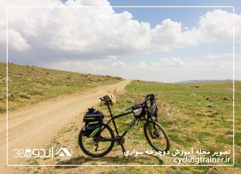 دوچرخه سواری در مسیر وردیج روستای لزور